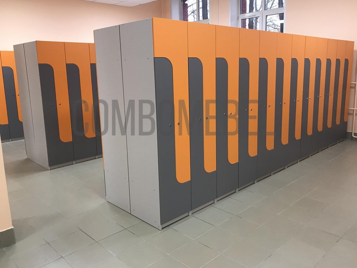 шкафы из ЛДСП для школьной раздевалки в Москве по индивидуальному проекту