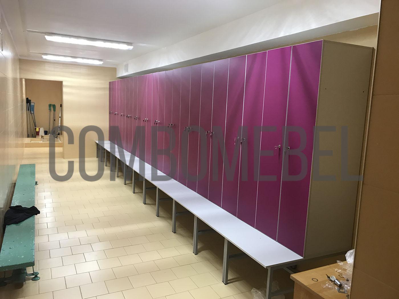 шкафчики Дуэт-МК2 для школы на металлокаркасе во влагостойком исполнении с HPL пластиком