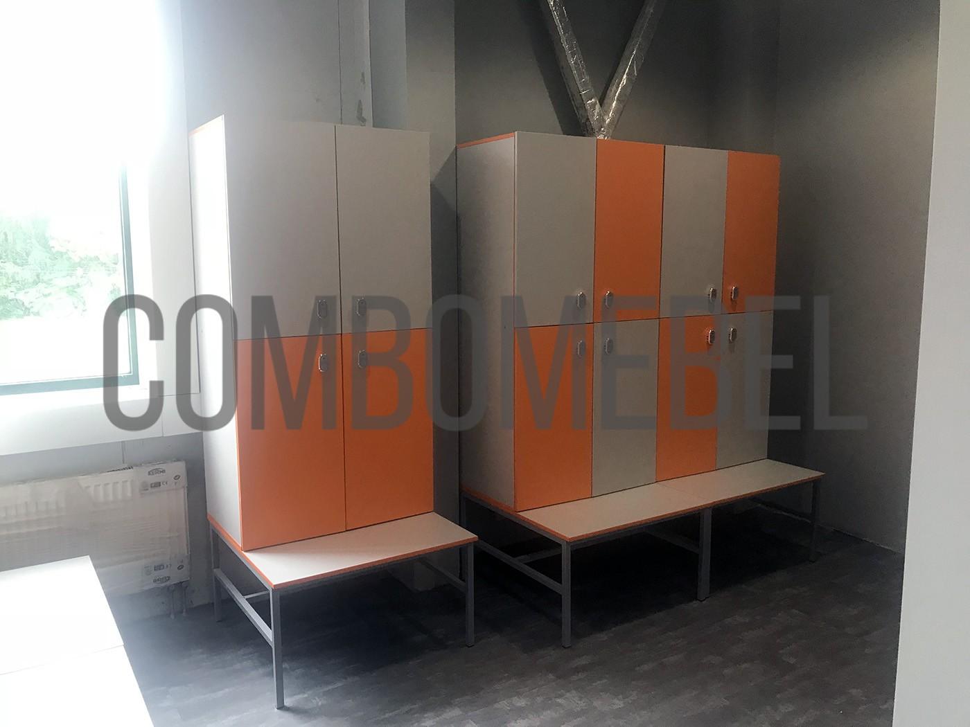 Дешевые шкафчики для раздевалок на основании из металлокаркаса