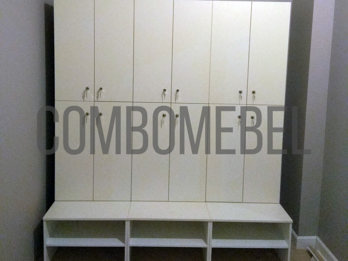 модульные шкафы для одежды в раздевалку Дуэт-С с дверками ЛДСП