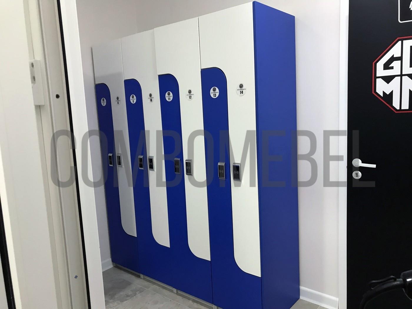 L-образные ящики для раздевалок по индивидуальному проекту с электронными замками DAFE KF-004