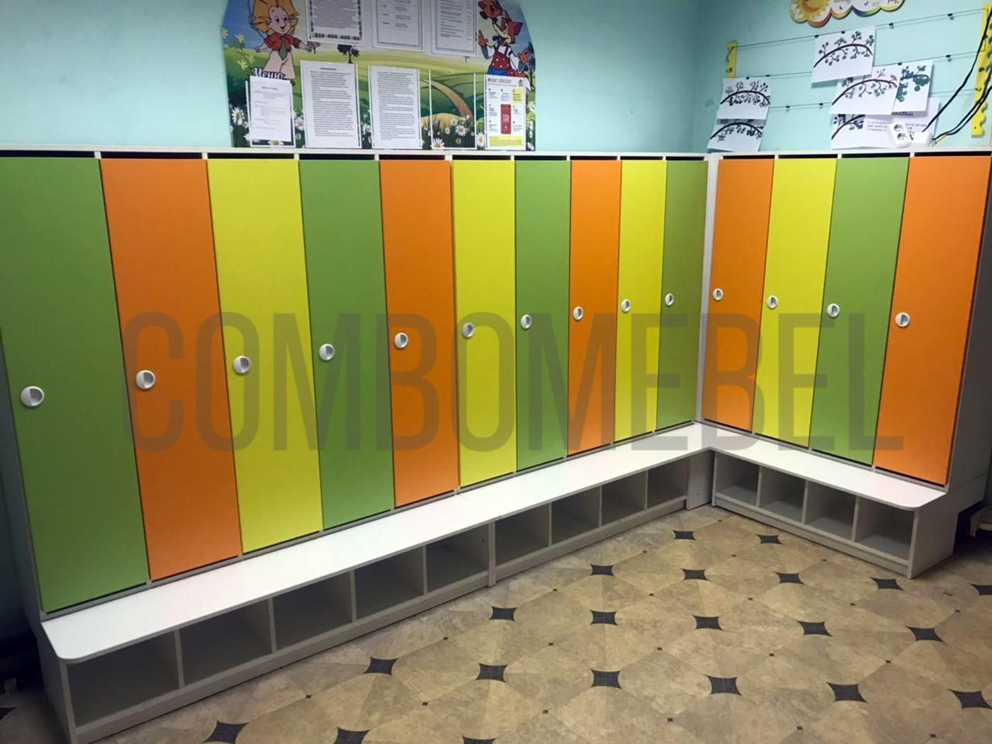 шкафы для детского сада по индивидуальным чертежам, острые углы скруглены