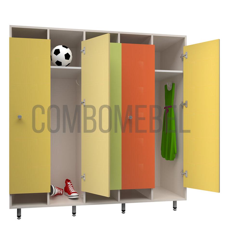 Детские шкафчики для фитнес клуба по индивидуальному проекту