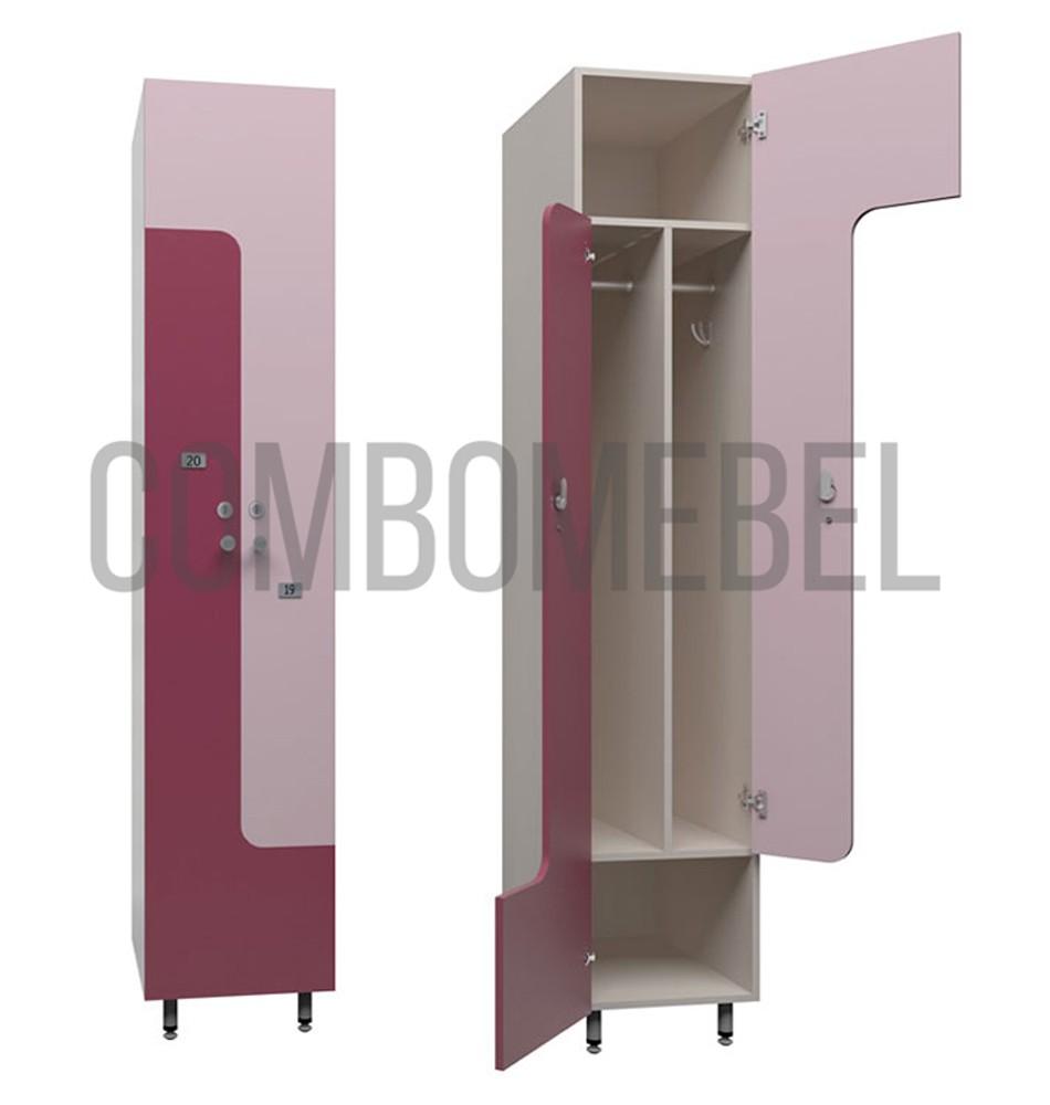 L-образные шкафчики для фитнес клуба