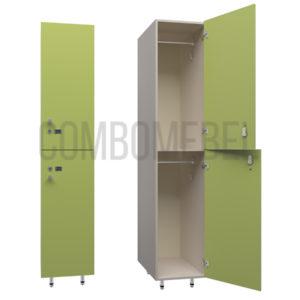 Шкаф для раздевалки двухсекционный Дабл-эконом