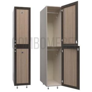 Шкаф для раздевалки двухсекционный Дабл-эконом+