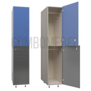 Шкаф для раздевалки двухсекционный Дабл-люкс