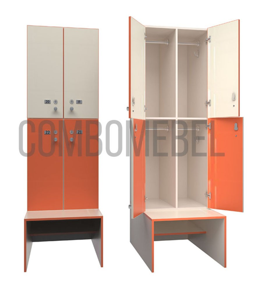 Секционные шкафы для раздевалок
