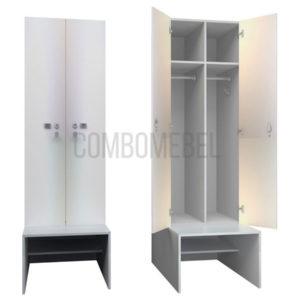 шкаф для раздевалки модульный люкс