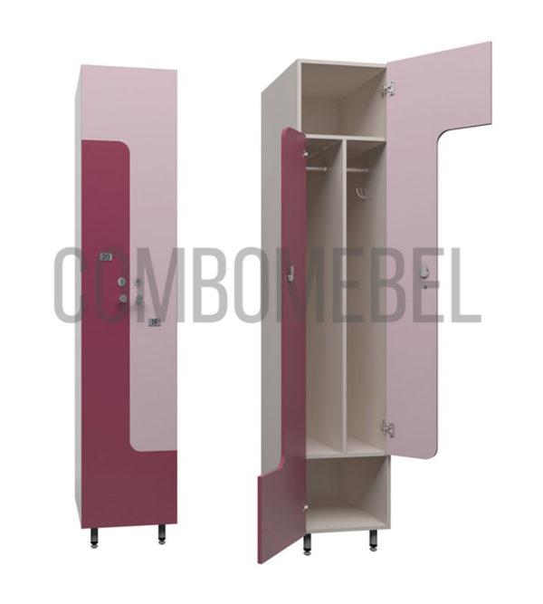 Шкаф для раздевалки L-образный эконом