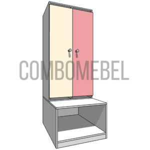 5640 руб. шкафчик детский модульный 2 секционный из ЛДСП