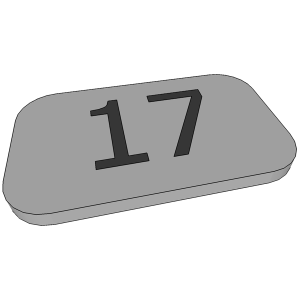 нумерация на шкафчик из ПВХ