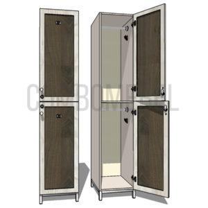Шкаф для раздевалки двухсекционный Дабл МК-эконом+