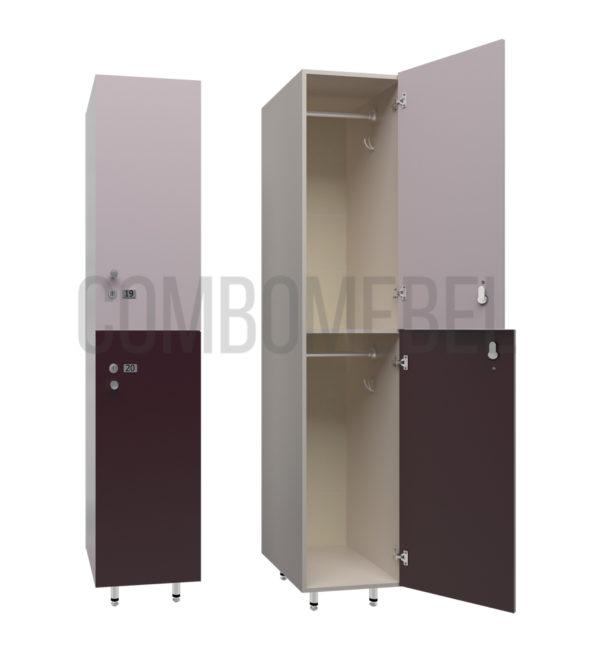 Шкаф для раздевалки двухсекционный Дабл-премиум