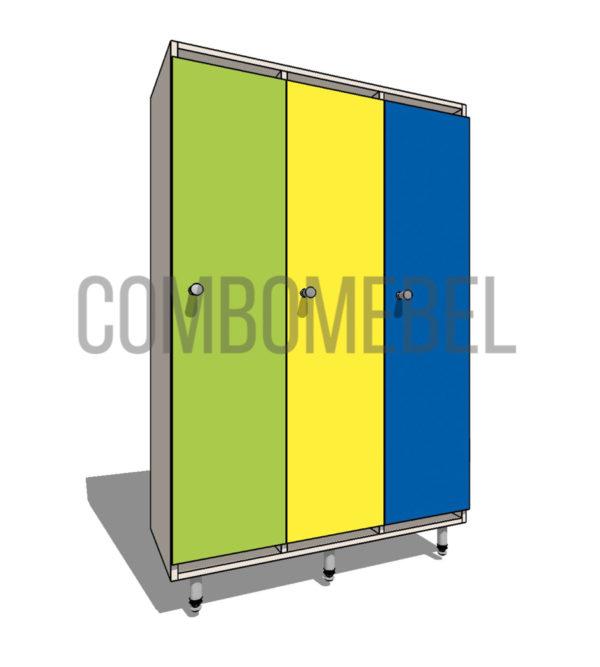 8400 руб. шкафчик детский эконом 3 секции из ЛДСП