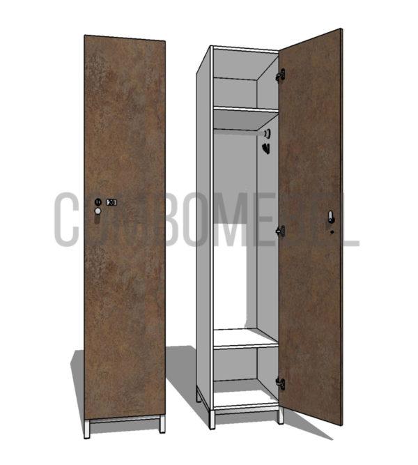 Шкаф для раздевалки односекционный Эгоист МК-эконом