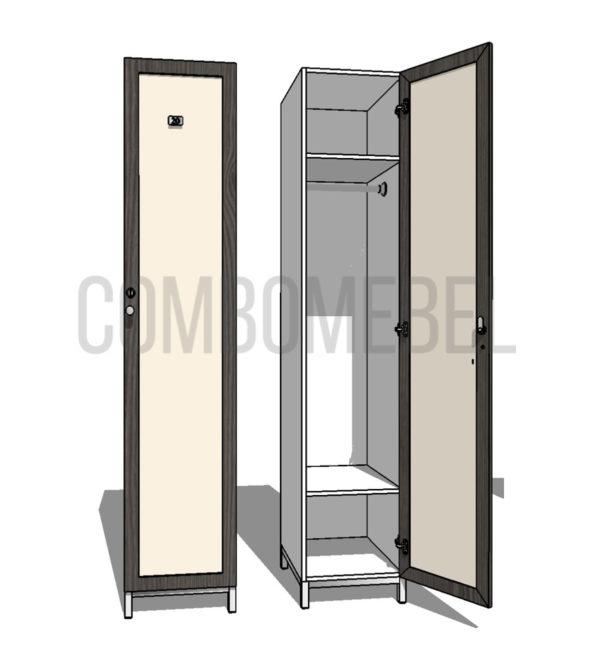 Шкаф для раздевалки односекционный Эгоист МК-эконом+