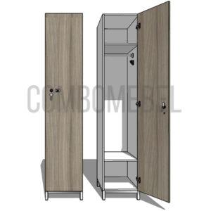 Шкаф для раздевалки односекционный Эгоист МК-медиум