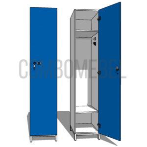 Шкаф для раздевалки односекционный Эгоист МК-премиум