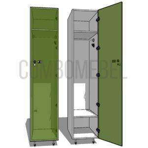 Шкаф для раздевалки односекционный Эгоист-люкс