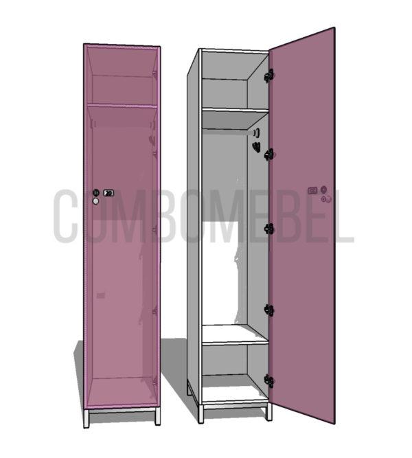 Шкаф для раздевалки односекционный Эгоист МК-люкс