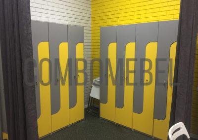 L-образные шкафы для раздевалки