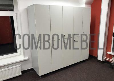Двухсекционные шкафы для раздевалки