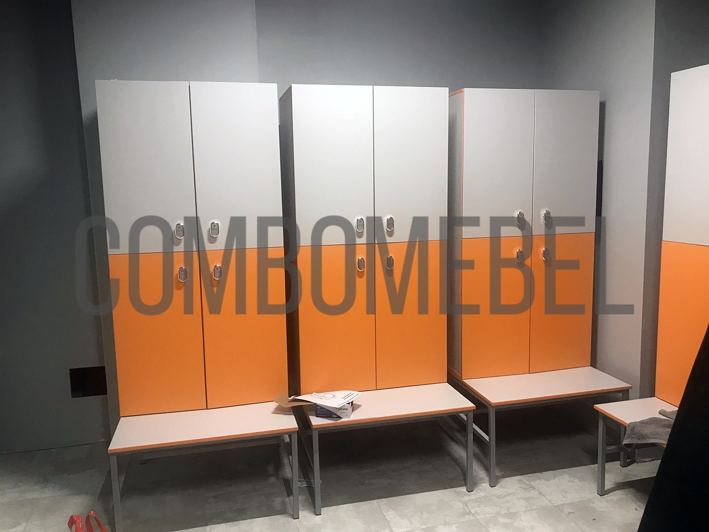 шкафчики для раздевалок по индивидуальному проекту комплекса ArtFly