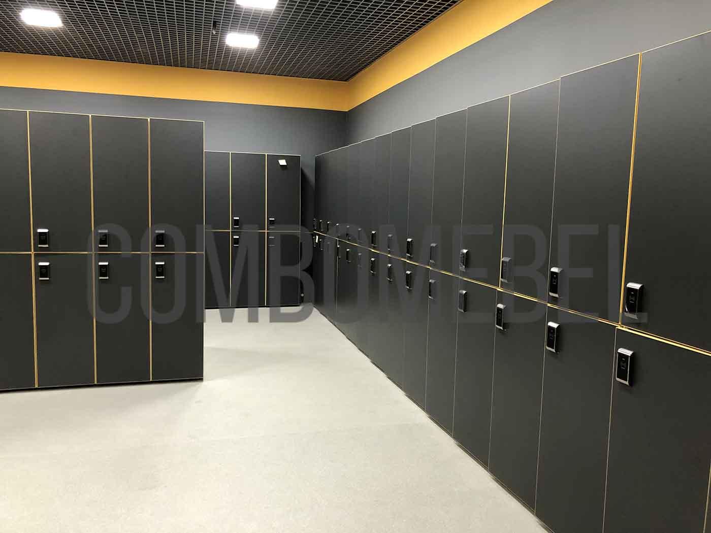 двухсекционные шкафы Дабл с электронными замками по дизайну заказчика