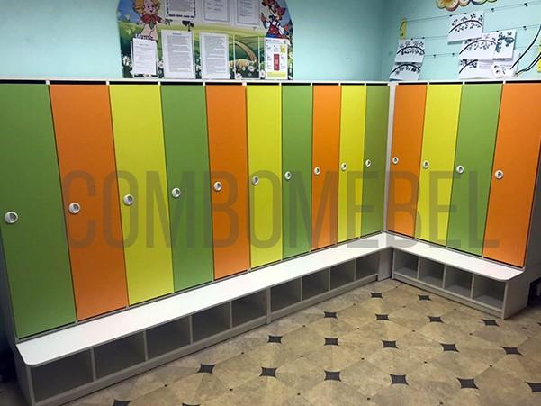 шкафы для детских раздевалок