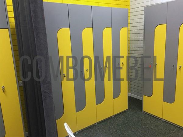 Шкафы для раздевалок из ДСП Лидер