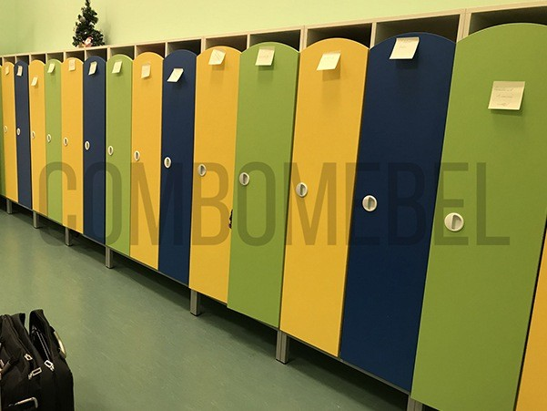 шкафы в детский садик раздевалки