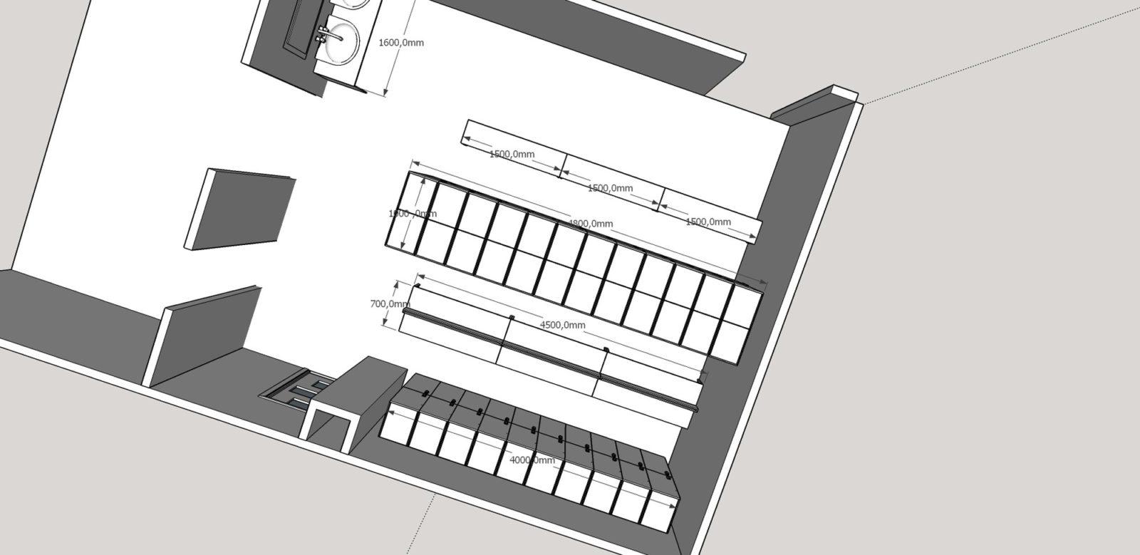 Проект раздевалки и шкафчики для фитнес клуба, гарантия лучшей цены в ComboMebel