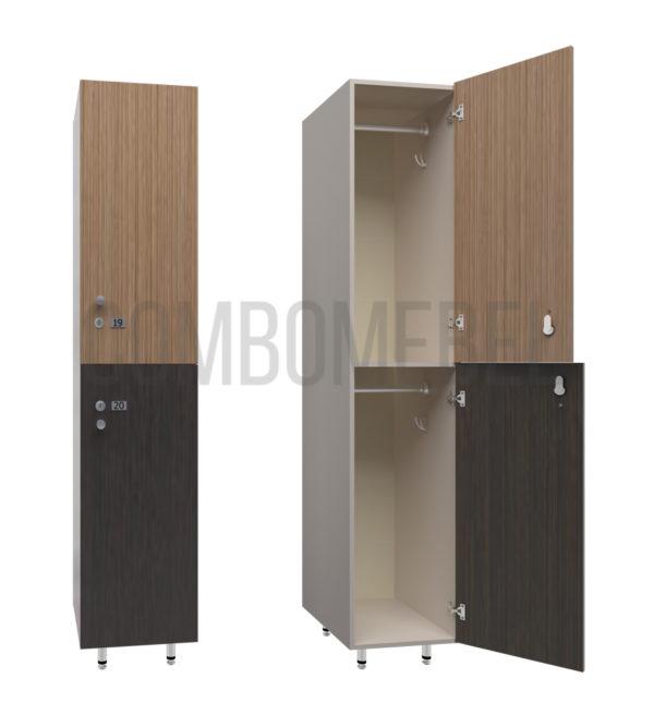 Шкаф для раздевалки двухсекционный Дабл-медиум
