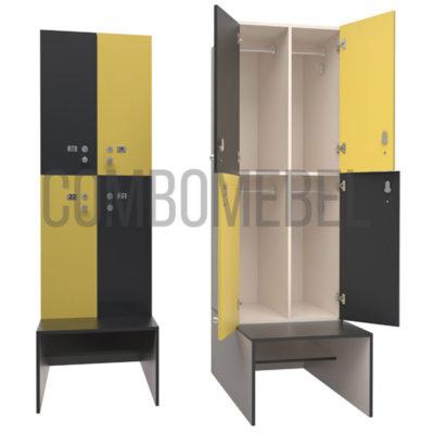 Модульный шкаф для раздевалки
