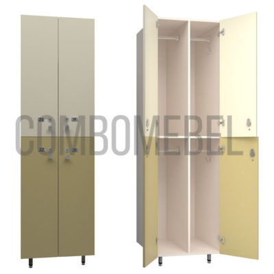 шкаф для раздевалки модульный премиум