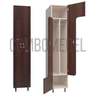 Шкаф для раздевалки L-образный медиум