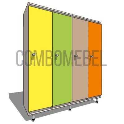 11200 руб. шкафчик детский эконом 4 секции из ЛДСП