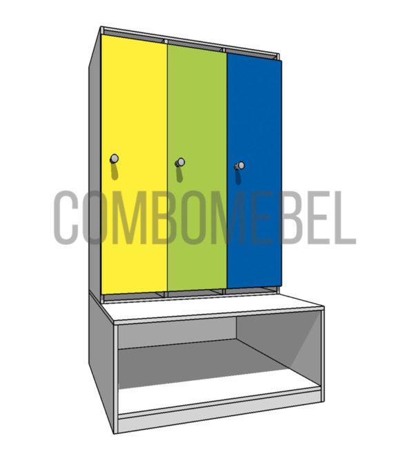 8640 руб. шкафчик детский модульный 3 секционный из ЛДСП
