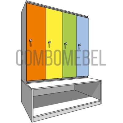 11280 руб. шкафчик детский модульный 4 секционный из ЛДСП