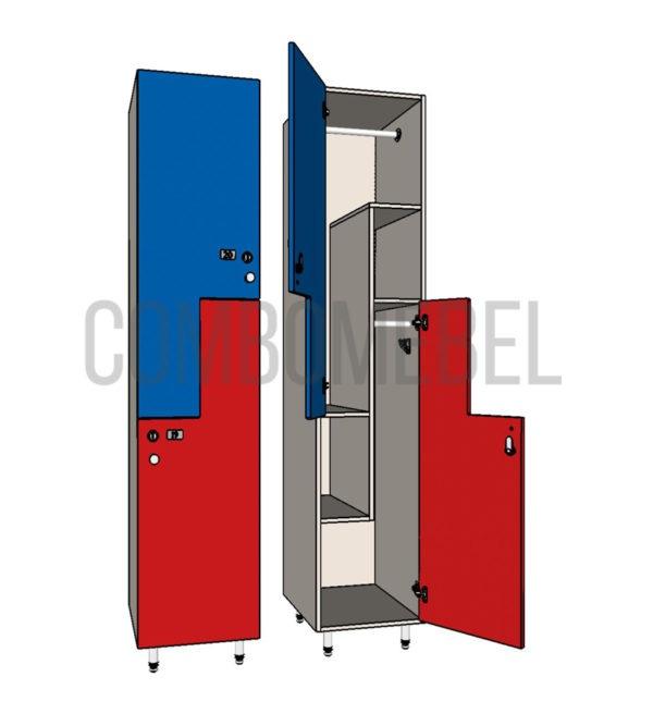 Шкаф для раздевалки F-образный медиум